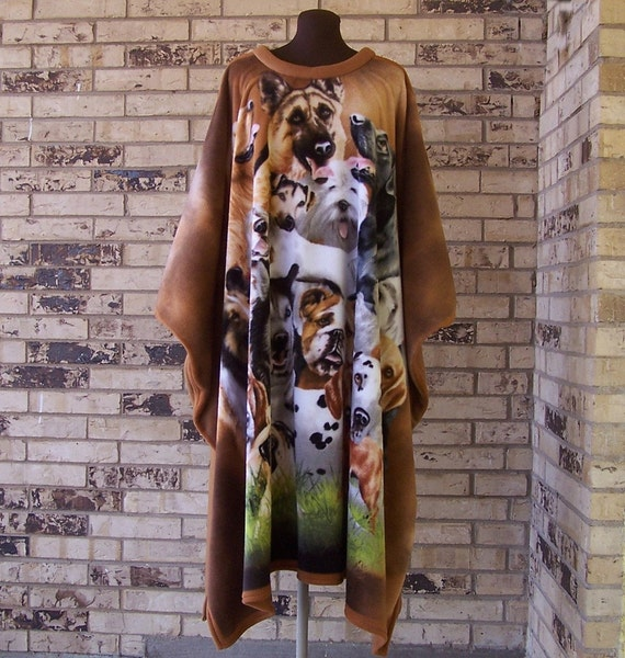 Dogs Galore Fleece Caftan  RESERVED FOR KATY