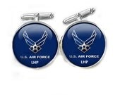 Air Force Personalized Initials Cufflinks, gift for him, men father cuff links