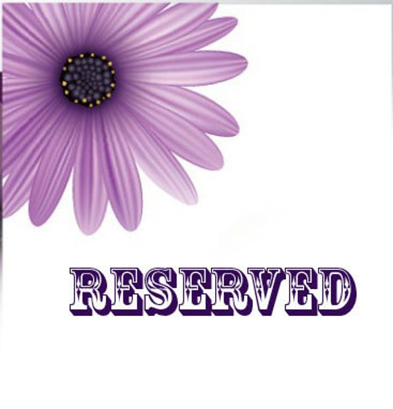 Reserved for Charity
