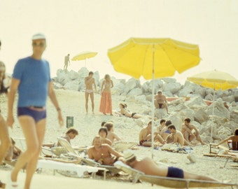 Vintage 70s Beach, Croatia Photography, Beach, Vintage, 1970s, Summertime, Series, Set of Three