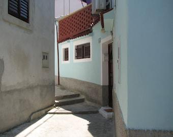 Croatia Photography, Europe, European, Alleys, Streets, Coastal Living, Blue