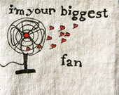 pillow door hanging vintage fan drawing with hearts
