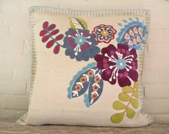 big pillow home decor in flowers and leaves