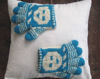 my winter gloves pillow in evergreen rustic home decor cabin cottage
