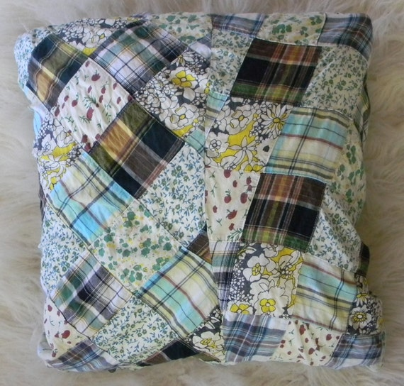 SALE patchwork pillow