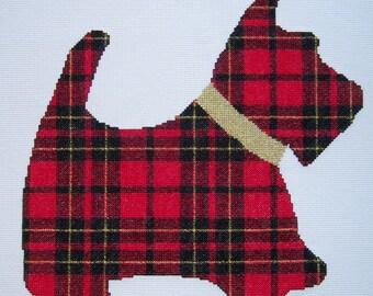 Scottish Terrier in Plaid-LB95023