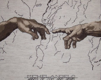 Hands of GOD and Adam by Michelangelo--LB00126
