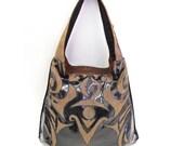 Persephone Vinyl Applique Handbag