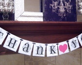 Thank You wedding bride banner,shower party, sign, swag, heart,photo prop,birthday,custom