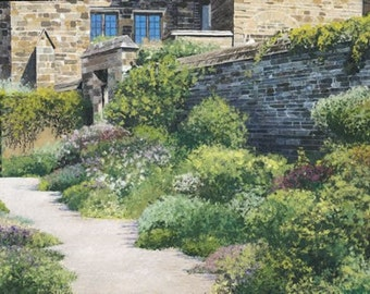 Courtyard Garden, 24 x18 hand signed limited edition print