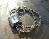 Swarovski crystal and Sterling Silver 2-strand WATCH