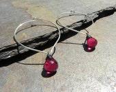 Chic, Modern, Minimalist EARRINGS on handmade Lotus petal earwires