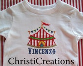 Carnival 1st 2nd or 3rd Birthday Shirt Made To Match Carnival Party Theme