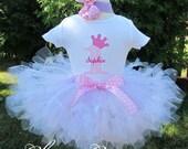 Baby Girl Birthday Outfit - Pink Petti Tutu - 1st Birthday Dress