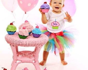 1st Birthday Tutu - Baby Girl Birthday Tutu Outfit - Cake Smash Photo Prop
