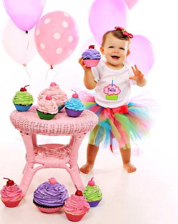 Baby Girl 1st Birthday Tutu Set - Baby Girl Tutu - Birthday Outfit - Cake Smash Photo Prop