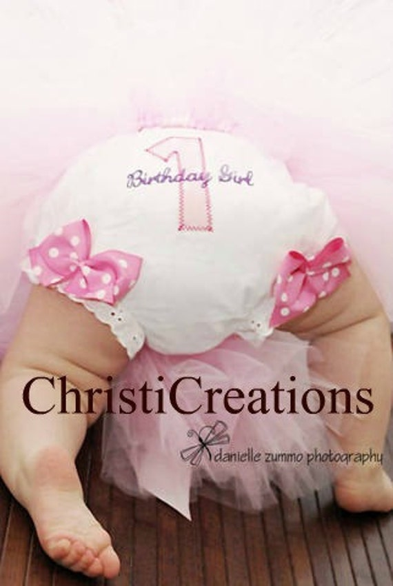 1st Birthday Diaper Cover - Baby Girl Bloomers - Baby Girl Tutu Diaper Cover - Personalized Baby