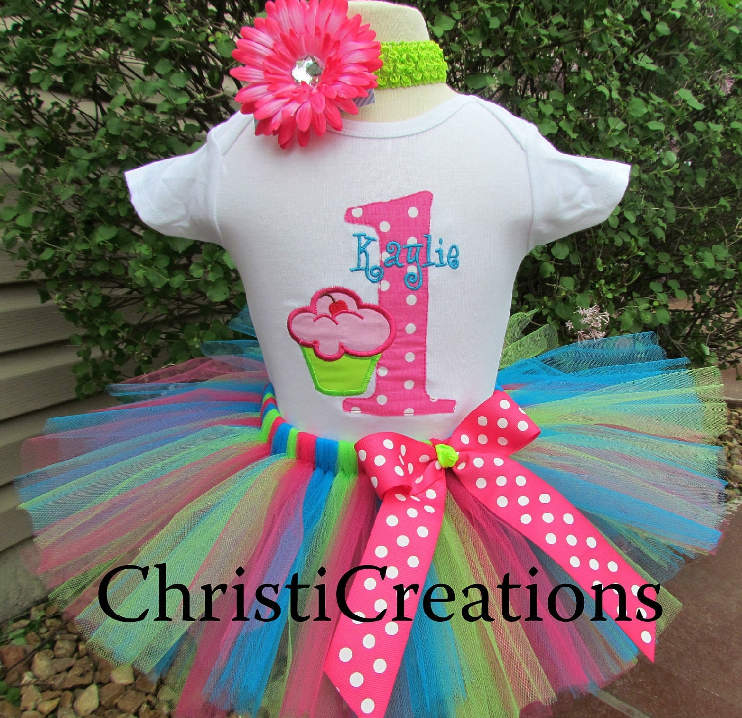 First Birthday Tutu Outfit Baby Girl Tutu Set By