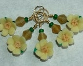 Yellow flower Stitch Markers