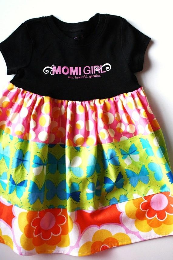 SALE...OOAK..MOMI girl butterfly garden dress.. sz 2/3...Momi boutique