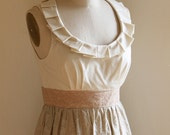 Flowers and Cream Pleated Collar Dress