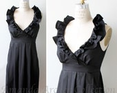 RESERVED for BROOKE black cotton bridesmaid dress 9/22