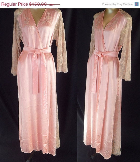 Vintage 30s Wrap Robe Dressing Gown 1930s By Catseyevintage
