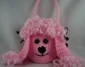 Pink Poodle Purse -  Crochet Pattern - Instant Download - Unique