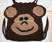 Monkey Backpack Crochet Pattern - Instant Download