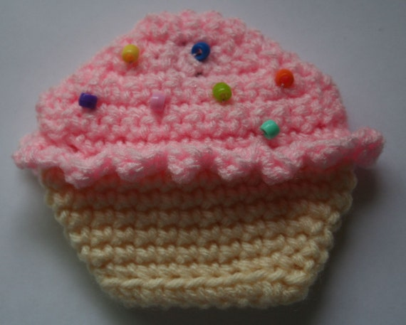 Cupcake Coin Purse CROCHET PATTERN by HipChickCrochet on Etsy