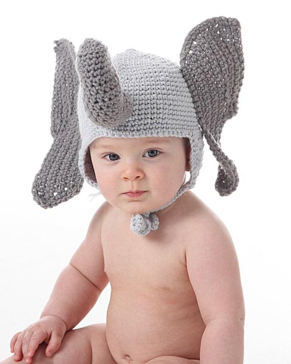 Crochet Elephant Hat Pattern Elephant Ear Flap Hat Crochet