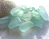 Seafoam light blue sea glass for jewelry, crafts, home decor.