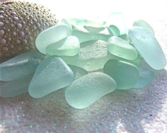Seafoam light blue sea glass for jewelry, crafts, home decor.