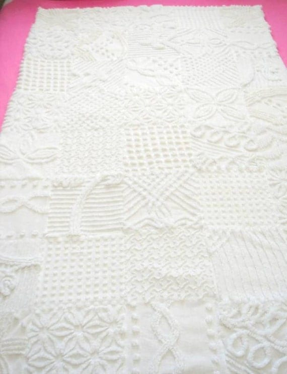 Reserved for FlowerfulCreationEtc Custom Chenille Queen Quilt 90 x 90