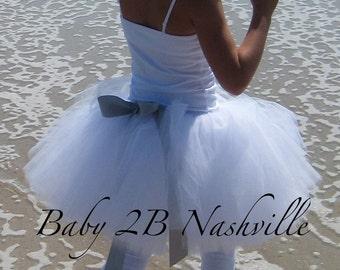 White Tutu Skirt Costume Tutu Girls Size 5-6T