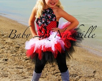 Girls Pirate Costume Tutu Pageant Outfit Size 7-8