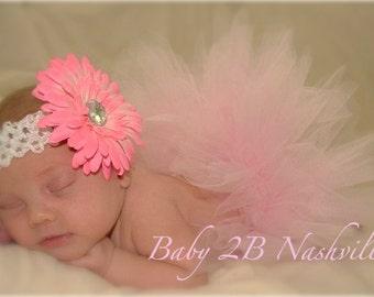 Pink Newborn Baby Tutu  ... Baby Shower Gift