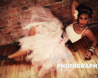 Womens  Tutu in Pink Shabby Chic