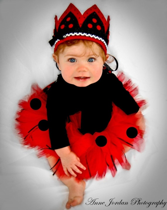 Baby Lady Bug Tutu Makes Great Costume Photo Prop