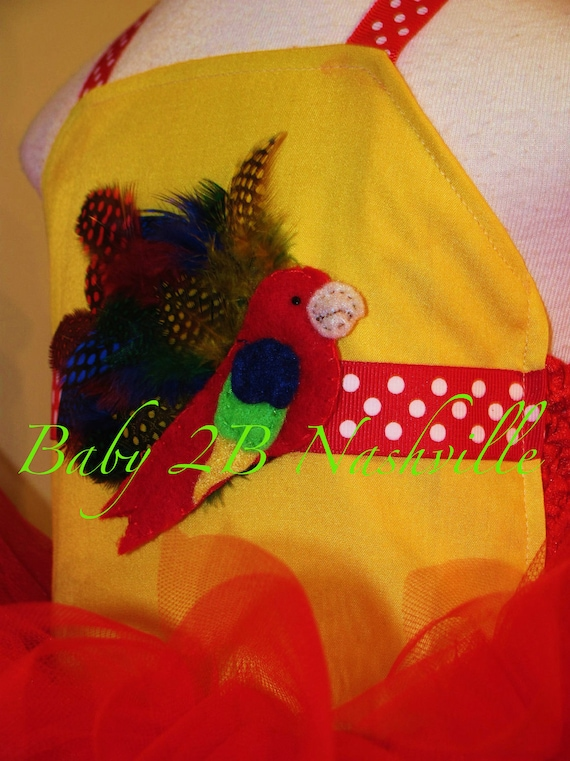 Parrot Halter Top and Spring Clip custom listing for Candijewels