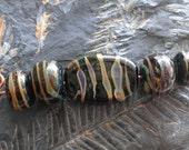 Black Mosaic Bead Set