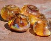 Honey Eggs Lampwork beads - Kelleysbeads SRA