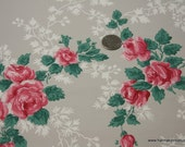 1940's Vintage Wallpaper clusters of Roses