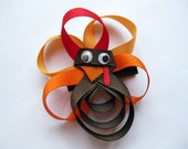Turkey Day Ribbon Alligator Clip- M