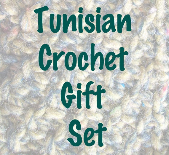 CLEARANCE Beginner's Guide to Tunisian Crochet gift set with 4 hooks - FREE SHIPPING