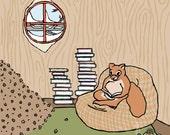 squirrel art print: prepared