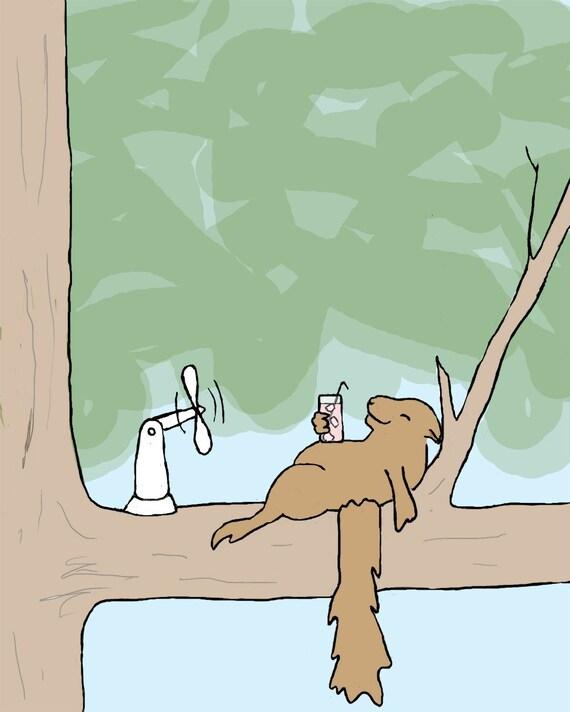 squirrel art print: heat wave