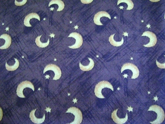 Brownish fabric gold moon stars 1 yard and 34 by funtique555 for Moon and stars fabric