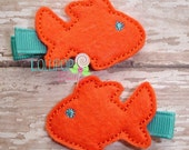 NEW Fish Felt Hair Clip - TheLollipopBoutique