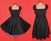 Jet Black 40s 50s RockaBilly swinG Pin Up DresS Plus Size 16 18 20 Christmas Halloween Party 2x